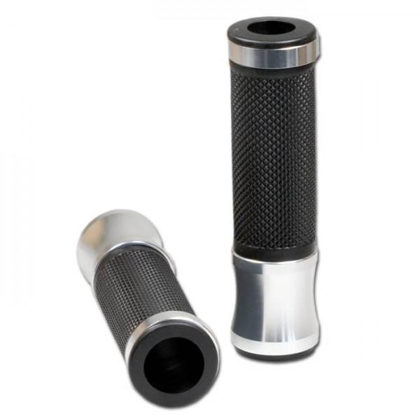 Rukojeti ALU 2, hliník / guma, otevřené 22 mm, délka 130 mm, (2ks-pár)