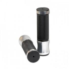 """Rukojeti ALU 3, hliník / guma, 7/8"""" (22mm), délka 120 mm, uzavřené konce, (pár-2ks)"""