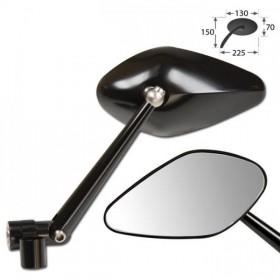 Zrcátka NERO, hliníková, černá, závit M10, (pár - 2ks)