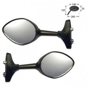 Zrcátka STRATO, plastová, černá, rozteč šroubů 30-60mm, (pár - 2ks)