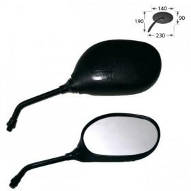 Zrcátka NOVA, plastová, černá, závit M10 pravý, (pár - 2ks)