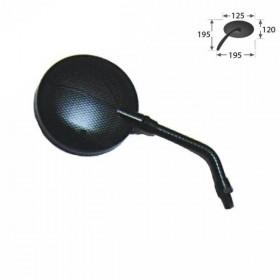 Zrcátko s nastavitelným sklem, karbon, závit M10 pravý, (1ks)