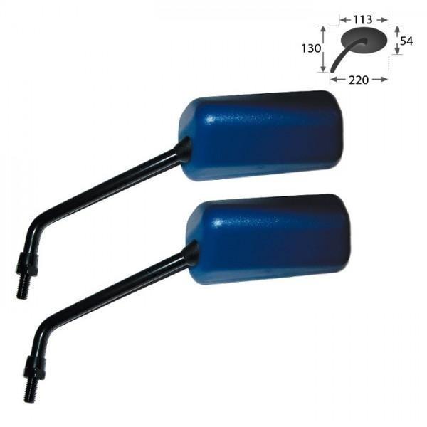 Zrcátka F1, modrá, závit M8 pravý, (pár - 2ks)