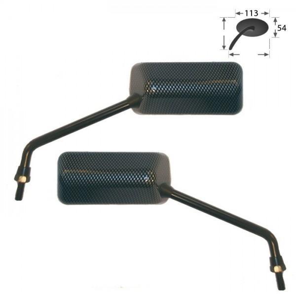 Zrcátka F1, karbon, délka nohy 120 mm, závit M8 pravý, (pár - 2ks)