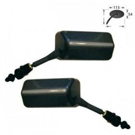 Zrcátka F1, karbon, délka nohy 45 mm, závit M6 pravý, (pár - 2ks)