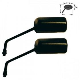 Zrcátka F1, černá, délka nohy 120 mm, závit M10 pravý, (pár - 2ks)