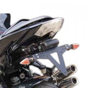 Držák SPZ Kawasaki  Z 750 (07-12) / Z 750 R (11-12) / Z 1000 (07-09), nastavitelný, černý