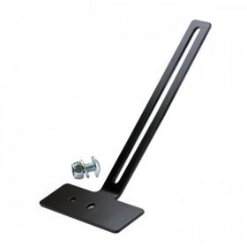 Hliníkový nastavitelný držák zadní odrazky, délka 155 mm, úhel 45°, černý