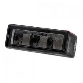 Mini LED zadní světlo BRICK 3 SMOKE, bez osvětlení SPZ, rozměry 27x10x12 mm, kouřové