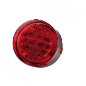 LED zadní světlo TWENTY RED, bez osvětlení SPZ, Ø 20x13 mm, červené
