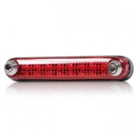 LED zadní světlo RAIL RED, ohebné, bez osvětlení SPZ, 105x18x19, červené