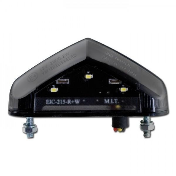 LED zadní světlo BRISK 3, s osvětlením SPZ, kouřové