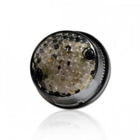 LED zadní světlo CNC SMOKE, s osvětlením SPZ, Ø 70x25 mm, kouřové