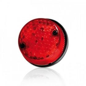 LED zadní světlo CNC RED, s osvětlením SPZ, Ø 70x25 mm, červené