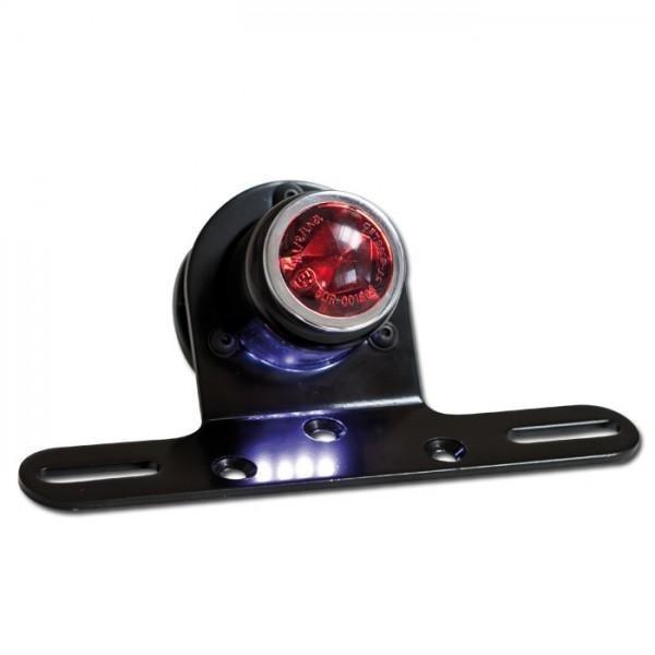 LED zadní světlo TUBE SMOKE, s držákem a osvětlením SPZ, kouřové
