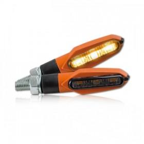 SMD LED blinkry SLIGHT SMOKE, oranžové (pár - 2ks)