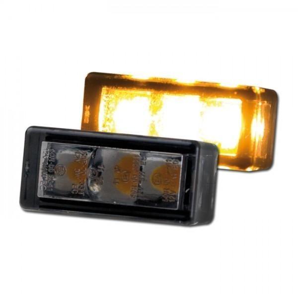 Mini SMD LED blinkry BRICK 3 SMOKE, 24x12x11 mm, kouřové sklo, (pár - 2ks)