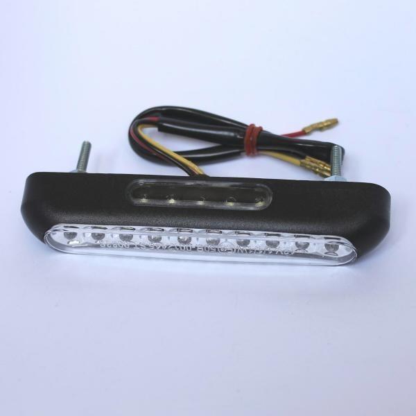 LED zadní světlo LINE CLEAR, černé, s osvětlením SPZ, čiré