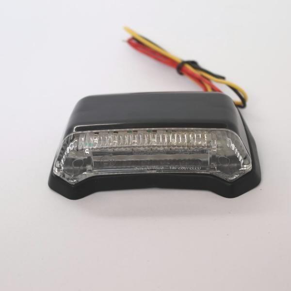 LED zadní světlo FENDER černé, bez osvětlení SPZ, čiré