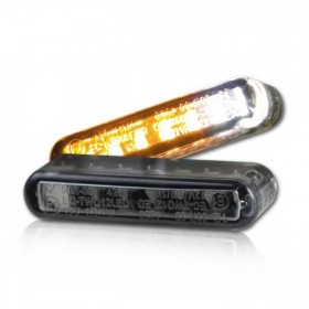 LED blinkry STREAK SMOKE s parkovacím světlem, 40 x 8 x 13 mm, kouřové, (pár - 2ks)