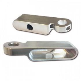 CNC hliníkové držáky LED blinkrů STREAK (HS-284098 / HS-284101), pár - 2ks