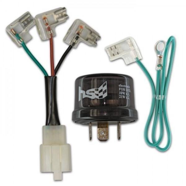 Univerzální přerušovač žárovkových i LED blinkrů, třípólový, 12V / 10W x 2 / 21W x 2