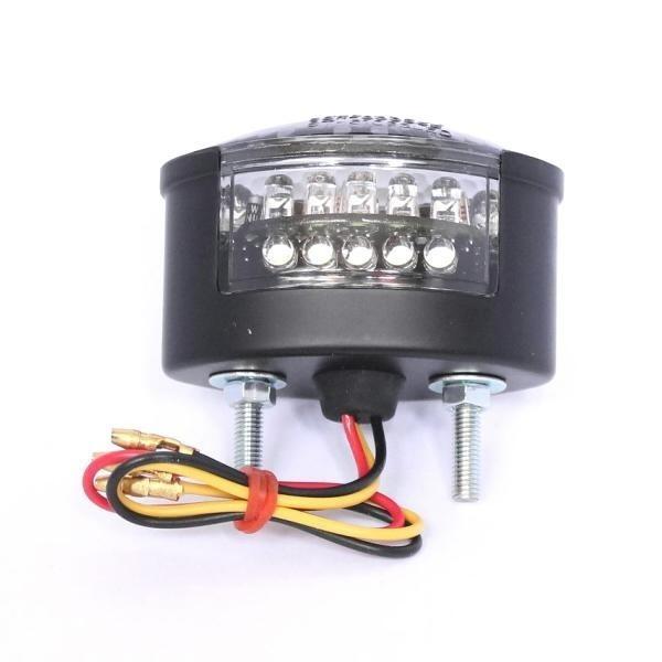LED zadní světlo MICRO CAT EYE, s osvětlením SPZ, kouřové