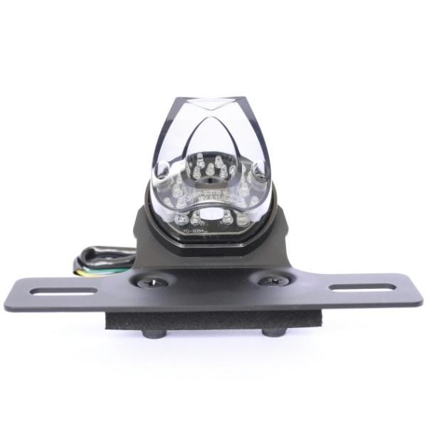 LED zadní světlo PIPE SMOKE s držákem SPZ, bez osvětlení SPZ, kouřové