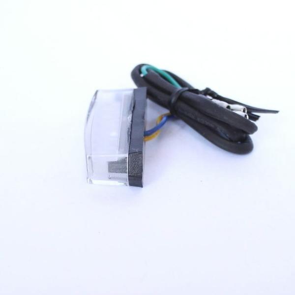 Mini LED zadní světlo ROUGH CLEAR, bez osvětlení SPZ, rozměry 50x18x20 mm, čiré