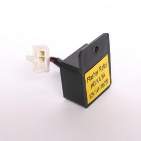 Přerušovač LED blinkrů HONDA, KAWASAKI, YAMAHA, dvoupólový, 12V / 1-100W