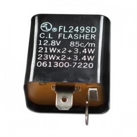 Univerzální mechanický přerušovač blinkrů, dvoupólový, 12V / 21W x 2 + 3,4W