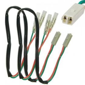 Honda / Kawasaki, kabely s adaptérem pro připojení blinkrů, (pár-2ks)