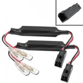 Ducati, kabely s odporem 15 Ohm / 10W a adaptérem pro připojení LED blinkrů, (pár-2ks)