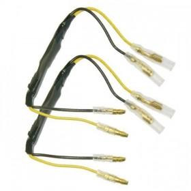 Univerzální kabely s odporem 27 Ohm / 5W pro připojení LED blinkrů, (pár-2ks)