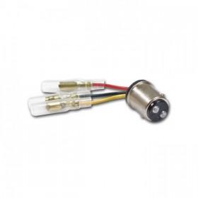 Kabel pro připojení zadního světla, s objímkou BAY15D a třemi konektory Ø 3,5mm