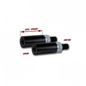 Nástavce nohy blinkru, délka 25mm, M8 / M10, ocelové, černé (pár - 2ks)