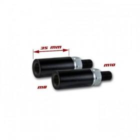 Nástavce nohy blinkru, délka 35mm, M8 / M10, ocelové, černé (pár - 2ks)