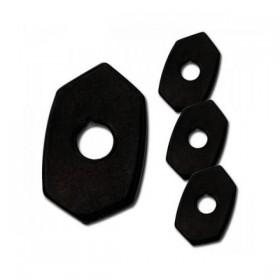 Kawasaki, ocelové černé krytky otvorů po demontáži originálních blinkrů, (4ks)
