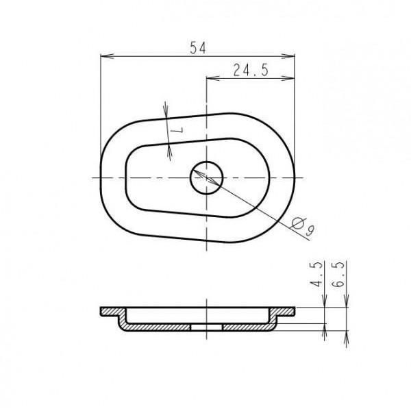 Yamaha, karbon, plastové krytky otvorů po demontáži originálních blinkrů, (4ks)