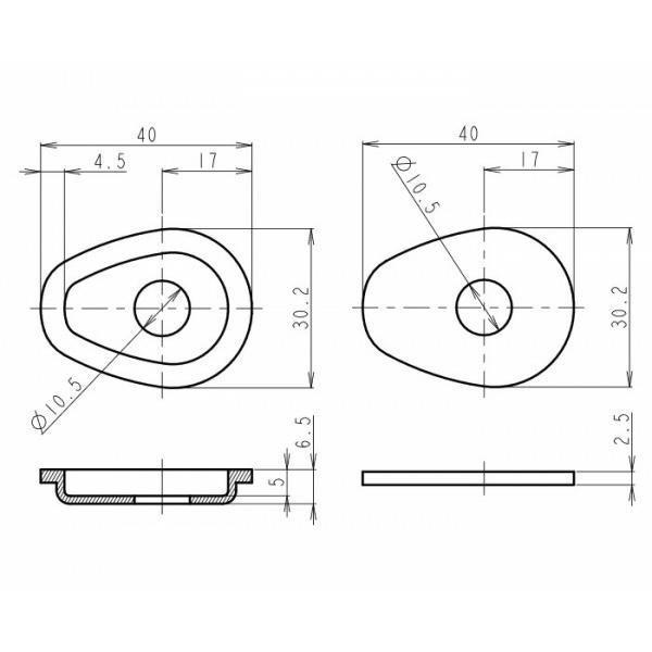 Suzuki, plastové černé krytky otvorů po demontáži originálních blinkrů, (4ks)