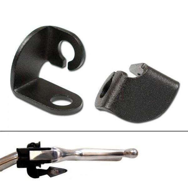 Univerzální držáky blinkrů pod řidítka, otvor Ø 8 mm, ocelové, černé, (pár-2ks)