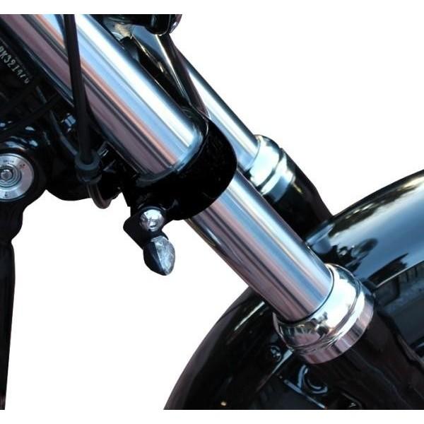 Univerzální držáky blinkrů, otvory Ø 8 a 10 mm, ocelové, černé, (pár-2ks)