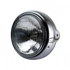 """Přední hlavní světlo BULLET s parkovacím světlem, 5 3/4"""", H4, chrom"""