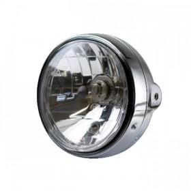 """Přední hlavní světlo BULLET čiré s parkovacím světlem, 5 3/4"""", H4, chrom"""