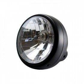 """Přední hlavní světlo BULLET čiré s parkovacím světlem, 5 3/4"""", H4, černé"""