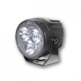 LED přídavné dálkové světlo SATELLITE čiré, Ø 55 mm, hliníkové, černé