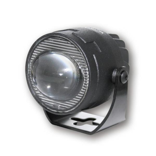 LED přídavné tlumené elipsoidní světlo, Ø 50 mm, hliníkové, černé