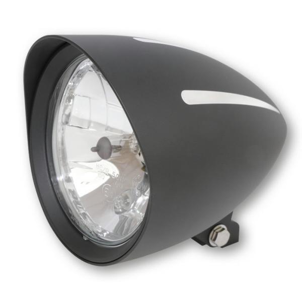 """Přední hlavní světlo CLASSIC EXTREME čiré s parkovacím světlem, 7"""", H4, hliníkové černé"""