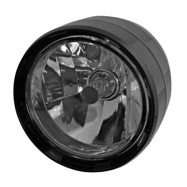 Přední hlavní světlo ABS čiré s parkovacím světlem, Ø 125 mm, HS1, plastové, černé