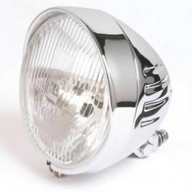 Přední hlavní světlo INDIAN STYLE 3 s parkovacím světlem, Ø 175 mm, H4, chrom